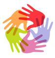 hands icon6 vector image