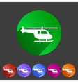 helicopter icon flat web sign symbol logo set vector image