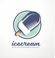 ice cream logo design idea vector image vector image