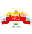 India Travel Landmarks vector image vector image
