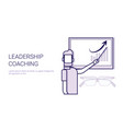 leadership coaching mentor trainings concept vector image