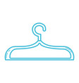 line nice clothes hanger object design vector image