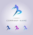 logo templates people are jumping your business vector image