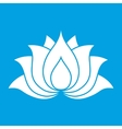 Lotus flower sign vector image vector image