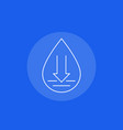 low water level linear icon vector image