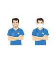 male nurse character vector image vector image
