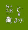 merry christmas elements green vector image vector image