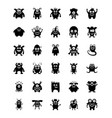 monster characters glyph icons vector image vector image