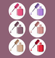 nail polish set icon template colorful vector image vector image