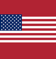 official flag united states america vector image