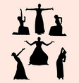 opera and theater gesture silhouette 02 vector image vector image