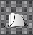 paper bag template vector image vector image