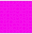 Pink Puzzles Pieces Square GigSaw - 100 vector image vector image