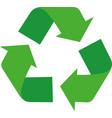 recycling symbol vector image vector image