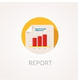 Report Icon Flat design style with long shadow vector image