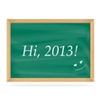 school board with number new year 2013 vector image vector image