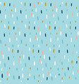 seamless hand drawn pattern with colorful strokes vector image