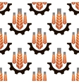 Seamless pattern of agriculture emblem vector image