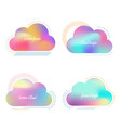 set creative cloud with bright blurred vector image vector image