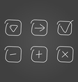 Set icon draw effect vector image vector image