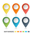 set of map pointers gradient markers vector image