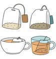 set of teabag vector image vector image