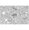 set science theme items objects and vector image