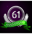 Sixty one years anniversary celebration with vector image vector image