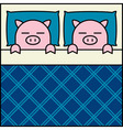 Sleeping Pig Couple vector image