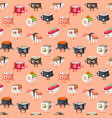 Sushi character food seamless pattern