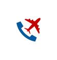 travel call logo icon design vector image vector image