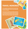 travel memories flat web banner vector image vector image
