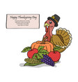 turkey for thanksgiving vector image vector image