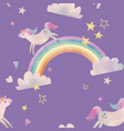 watercolor unicorn pattern vector image vector image