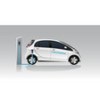 white carsharing electric car vector image vector image
