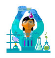 woman scientist working in the laboratory vector image vector image
