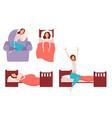 sleeping young woman at home vector image