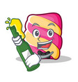 with beer marshmallow character cartoon style vector image
