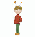 boy in a sweater vector image