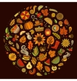 doodle cartoon set of Autumn objects vector image