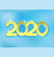 2020 new year vector image