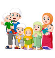 a muslim family are celebrating ied mubarak vector image vector image