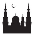 a silhouette of a mosque vector image