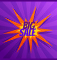 abstract big sale banner in comic style vector image vector image