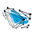 abstract geometric 3d faceted object modern vector image vector image