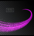 abstract shiny pink light effect texture on vector image