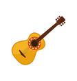 acoustic guitar symbol of mexico vector image