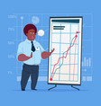 african american business man with flip chart vector image vector image