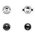 barber shop logo vector image vector image