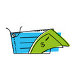 bill dollar money with commercial tag hanging vector image vector image